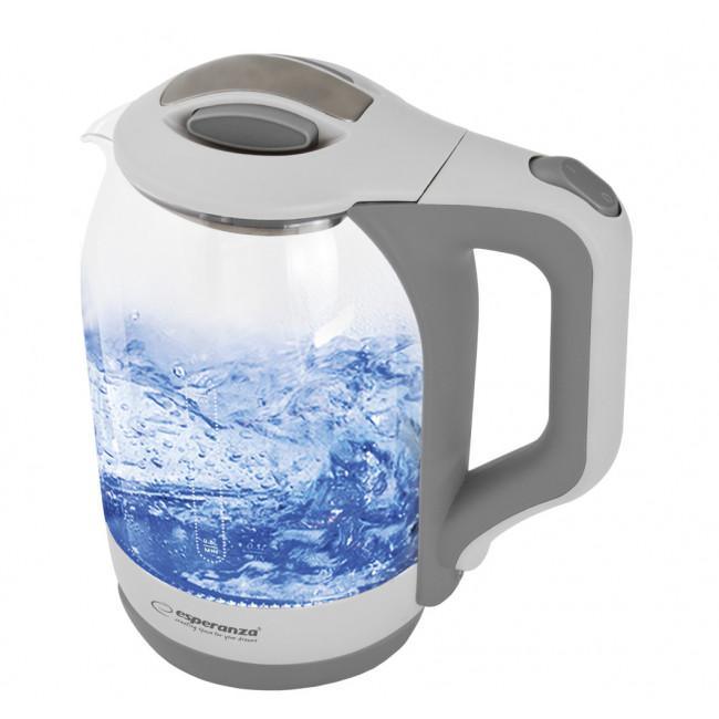 EKK025W Esperanza czajnik elektryczny szklany yukon 1.7 l biały