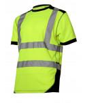 """Koszulka t-shirt ostrzegawcza, żółto-czarna, """"l"""", ce, lahti"""