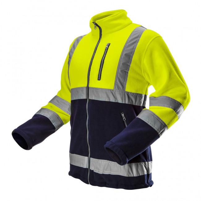 Bluza polarowa ostrzegawcza, żółta, rozmiar M