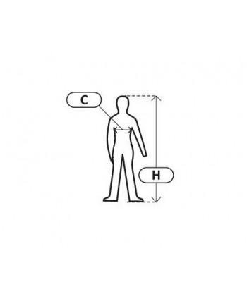 LPPP1M Płaszcz przeciwdeszczowy z kapturem, wodoodporny, M