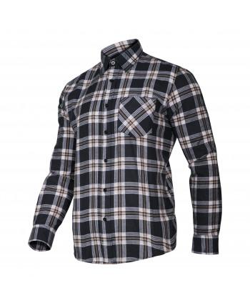 LPKF2S Koszula flanelowa w kratę, granatowa, H:164-170, C:84-88, S, LP