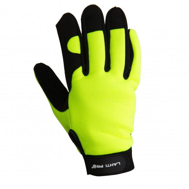 L280311K Rękawice warsztatowe czarno-żółte [L280311P] [K] 11, LahtiPro