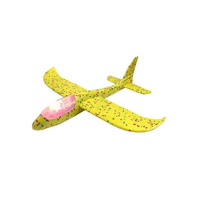 Szybowiec z dwoma trybami latania (rozpiętość 480mm, diody LED) - żółty