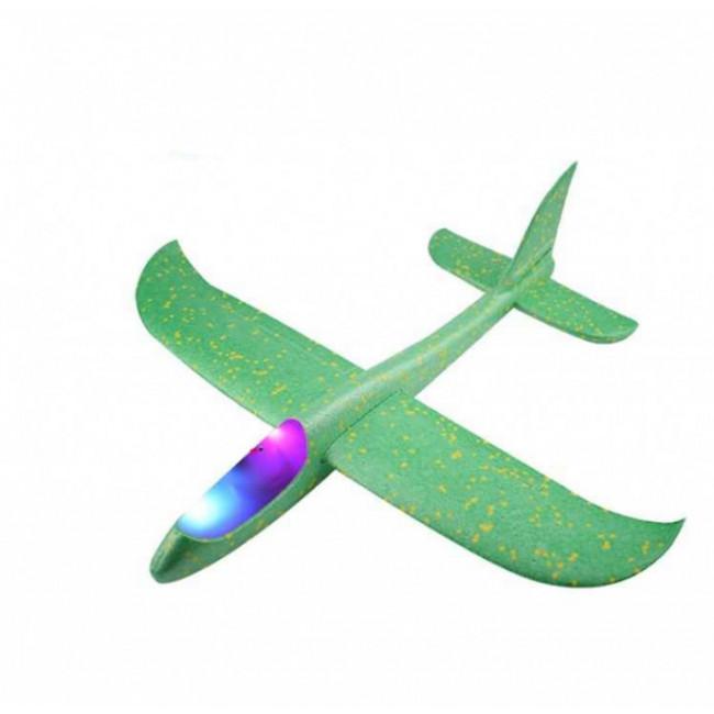 Szybowiec z dwoma trybami latania (rozpiętość 480mm, diody LED) - zielony