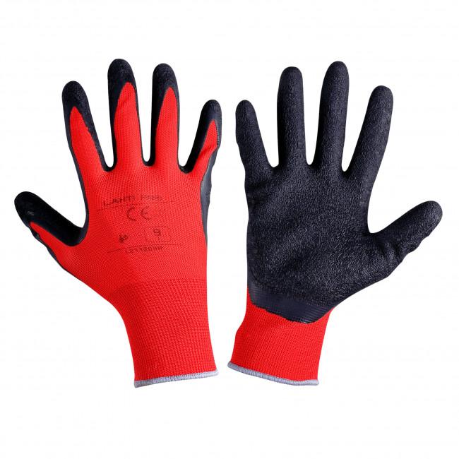 """Rękawice lateks czar-czerw. l211209p, 12 par, """"9"""", ce, lahti"""