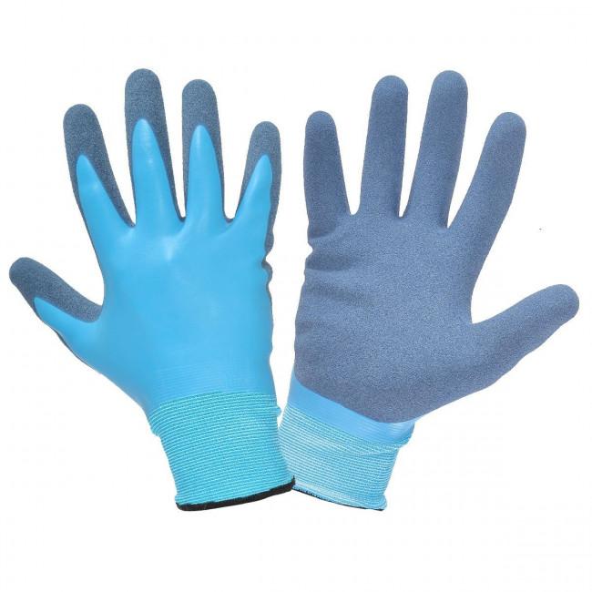 """Rękawice lateks niebieskie l211908p, karta, """"8"""", ce, lahti"""