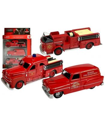 Zestaw Autek Straży Pożarnej 1:43 3 sztuki Resoraki