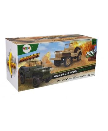 Auto Zdalnie Sterowane Jeep 1:10 Zielone 33cm