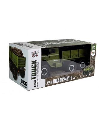 Auto Wojskowe Ciężarówka Wojskowa 6x6 Pilot R/C Zielona