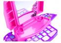 Toaletka Zestaw Kosmetyki Lusterko Światełka Róż