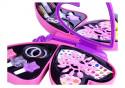 Zestaw Do Manicure Motyl Lakiery Naklejki Brokat