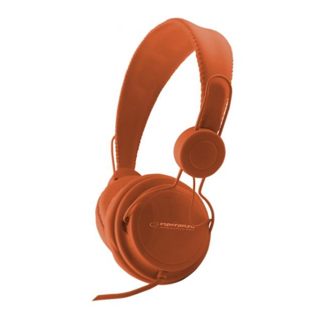 EH148O Słuchawki Audio Sensation  pomarańczowe Esperanza