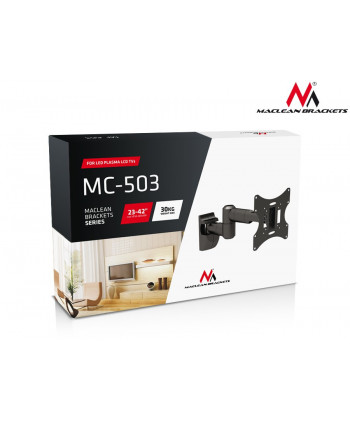 "Uchwyt do telewizora  lub  monitora 13-42"" 30 kg uniwersalny Maclean MC-503A B czarny max vesa 200x200"