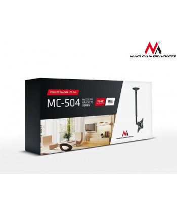 "Uchwyt do telewizora sufitowy 23-42"" 50~85cm 30kg Maclean MC-504A S srebrny"