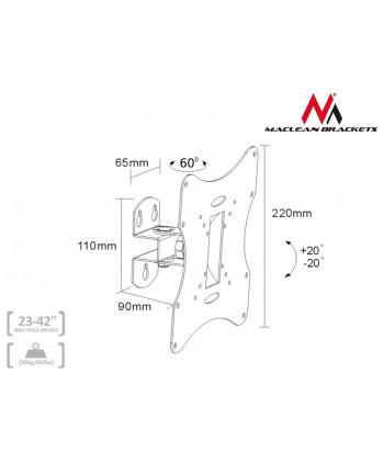 "Uchwyt do telewizora  lub  monitora 23-42"" 30kg uniwersalny Maclean MC-501A S srebrny  max vesa 200x200"