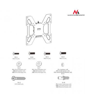 "Uchwyt do telewizora lub monitora 23-42"" Maclean MC-597 black czarny max vesa 200x200 20kg"