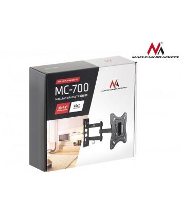 "Uchwyt do telewizora  lub  monitora 23-42"" 20kg uniwersalny Maclean MC-700 czarny max vesa 200x200"